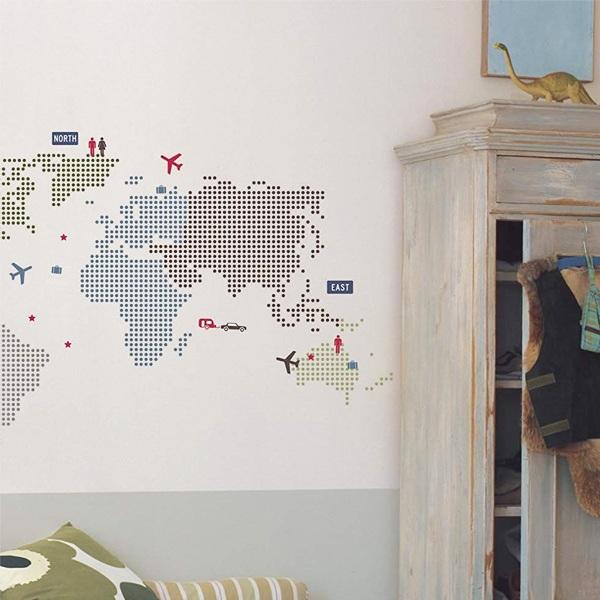 Interior palette rakuten global market wall sticker wallpaper wall sticker wallpaper seal kidz world map roommates interior stickers wall stickers nursery character roommates peel off wall kids seal decoration gumiabroncs Images