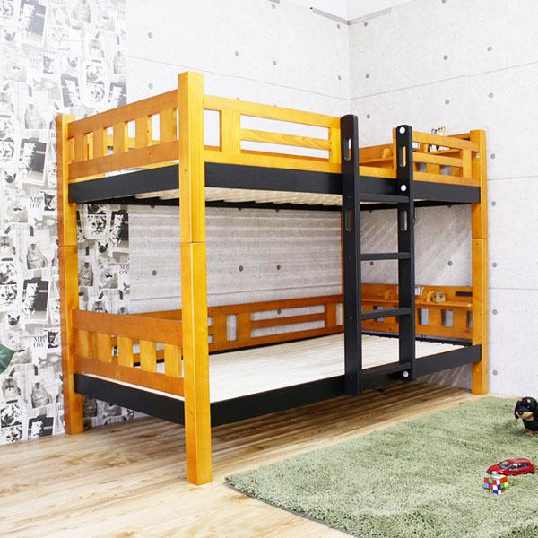 シングルベッド 2段ベッド 天然木 ライト付 トライ3 ( 送料無料 ベット ベッド シングル 木製 子ども用ベッド 木製ベッド 二段ベッド すのこベッド 子ども部屋 ライト コンセント )【5000円以上送料無料】
