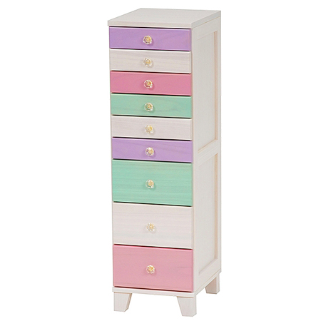 Chest 9-drawer width 29 cm pastel (filing case wood HitTest drawer chest of drawers cute furniture cabinets approx width 30 cm)  sc 1 st  Rakuten : 9 drawer file cabinet - Cheerinfomania.Com