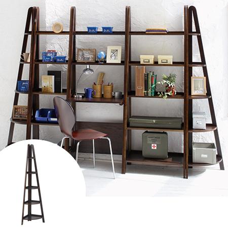 Corner Rack Wood Products Five Steps 41cm In Width Dark Brown Display Bookshelf Shelf Living Storing Multi Purpose Wooden