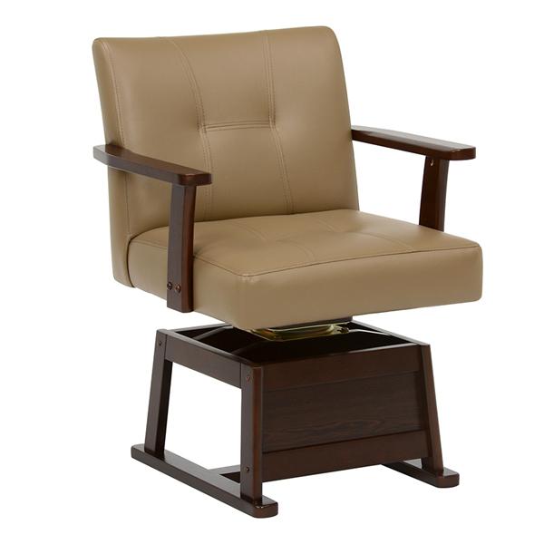 コタツチェア 肘付 回転座椅子 座面高2段階調節 幅56cm ( 送料無料 こたつ 炬燵 ハイタイプコタツ用 ダイニング ダイニングチェア 回転 高さ調節 ) 【39ショップ】