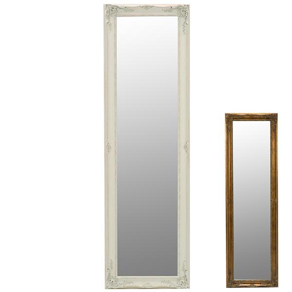 鏡 ミラー スタンドミラー アンティーク調フレーム 50x165cm ( 送料無料 全身鏡 姿見 スタンドミラー かがみ 全身ミラー 玄関 リビング 洗面所 クローゼット 身だしなみ )【5000円以上送料無料】