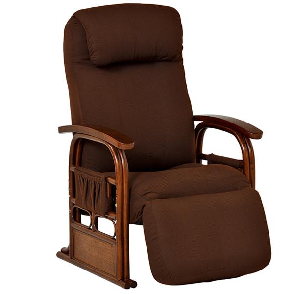 籐 ラタン ギア付き座椅子 リクライニング ( 送料無料 チェア 椅子 イス 背もたれあり 籐家具 籐製家具 腰掛け リビング ローチェア いす イス )【5000円以上送料無料】