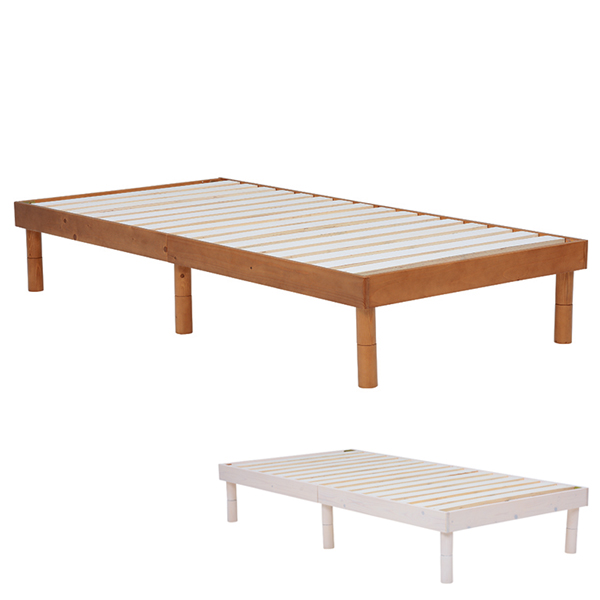 ベッド シングル すのこベッド フラットタイプ ( 送料無料 ベット 子供用ベット ヘッドレスベット すのこ 天然木 スノコ フラット フラットベット スノコベット スノコマット シンプル ブラウン ホワイト 茶色 白 )【39ショップ】