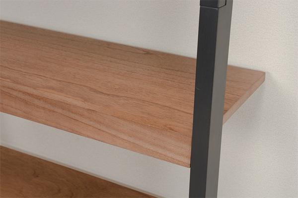 オープンラック5段ウォールラック木製ウッドプロダクツ幅80cm