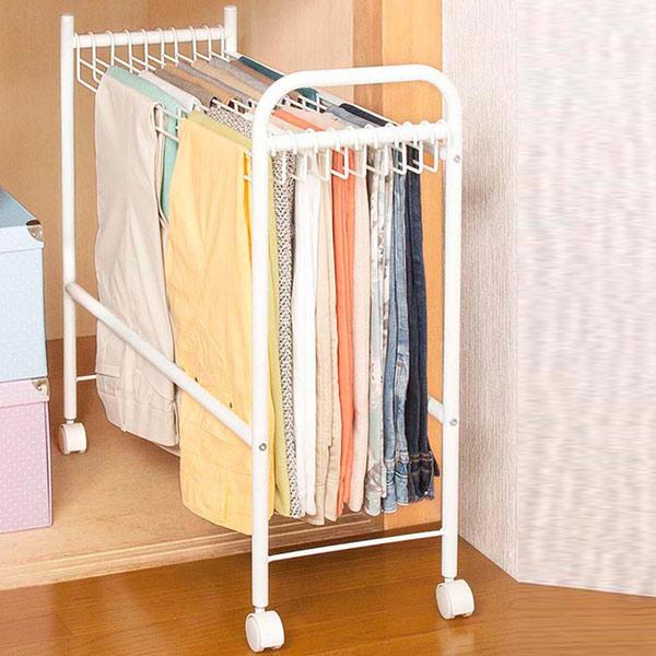 Bottoms Slim Pants Hanger Closet Storage Caster With (slacks Pants Closet  Storage Clothes Storage, Trouser Pants Hanger Of Slacks Wagon Storage)  05P24Oct15