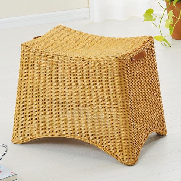 ラタンスツール 座椅子 籐編み 高さ40cm(送料無料 ラタン 椅子 イス いす チェアー チェア オットマン 送料無料 ) 【5000円以上送料無料】