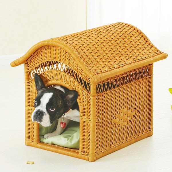 ペットハウス ラタン 犬小屋 籐家具 幅45cm ( ラタン 送料無料 犬小屋 室内用 アジアン ) 【5000円以上送料無料】