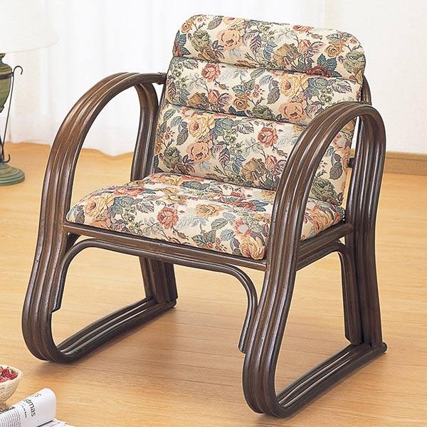 籐(ラタン) 思いやりもこもこ座椅子 【S215B】 送料無料 【5000円以上送料無料】