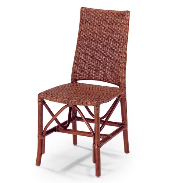 籐 ダイニングチェア ラタンチェア 幅43cm ( 送料無料 ラタン家具 アジアン家具 チェア 椅子 イス いす チェアー ダイニングチェアー ラタンチェアー リゾート 手編み ) 【5000円以上送料無料】