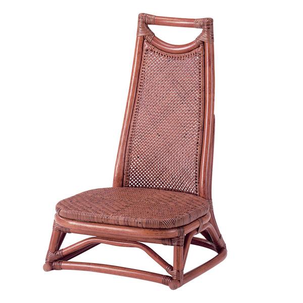 籐 座椅子 背もたれ付 ラタン製 座面高22cm ( 送料無料 ラタン家具 アジアン家具 座椅子 座いす 椅子 イス いす ラタン アジアン リゾート 正座いす ) 【5000円以上送料無料】
