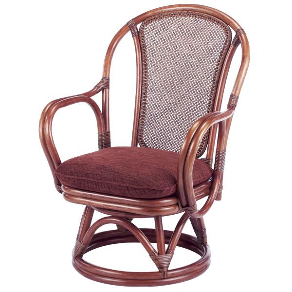 ラタンチェア 回転座椅子 シィーベルチェア 座面高38cm ( 送料無料 ラタン家具 アジアン家具 チェア 座椅子 シーベルチェア シィーベルチェアー 座いす 回転 椅子 イス いす 手編み ) 【5000円以上送料無料】