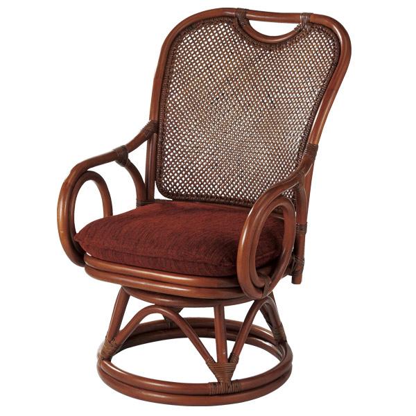 ラタンチェア 回転座椅子 シィーベルチェア 座面高37cm ( 送料無料 ラタン家具 アジアン家具 チェア 座椅子 シーベルチェア シィーベルチェアー 座いす 回転 椅子 イス いす 手編み ) 【5000円以上送料無料】
