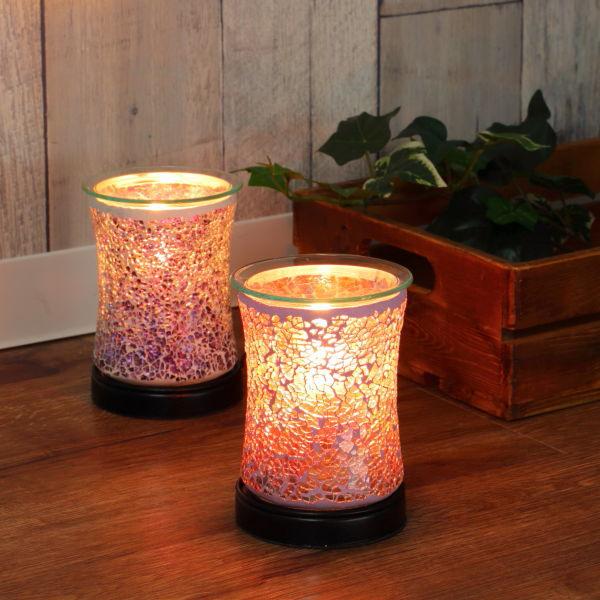 毎週更新 優しい香りに癒される宝石のようなアロマライト 照明 アロマランプ モザイク 日本未発売 ガラス テーブルランプ コード式 アロマ ライト テーブル 卓上 おしゃれ リラックス 香り アロマテラピー ナイトランプ インテリア 癒し アロマライト 39ショップ テーブルライト ランプ