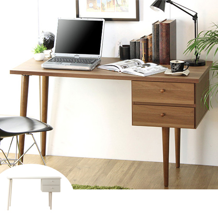 Wood Tones Desk Narrow Foot Type Salute Drawers 2 Gl With Width 120 Cm