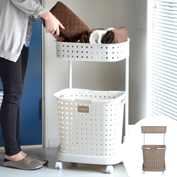 Laundry basket bunk lecher (laundry box washing basket dressing basket laundry rack laundry cart dressing cart washing compartment dressing baskets storage ... & interior-palette | Rakuten Global Market: Laundry basket bunk lecher ...