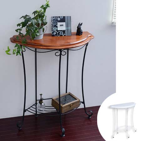 Wrought Iron Console Side Table (cute European Princess Series Console Table  Semicircle Desk Desk Antique Flower Stand Phone Units Helpful Door  Decoration ...