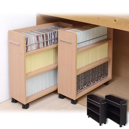 Captivating Closet Storage Rack With Casters Set Of 2 ( Wooden Bookcase Closet Track  Comics Paperback Side Wagon Storage Shelf ) P25Jan15