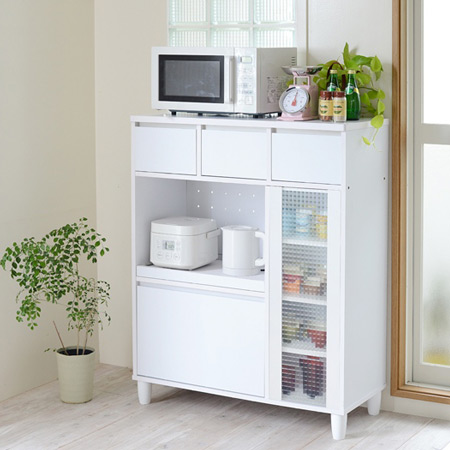 With door oven glass kitchen storage units width 90 cm (tableware shelf  range Board slide shelf back makeup blind white white kitchen cupboard  drawer ...