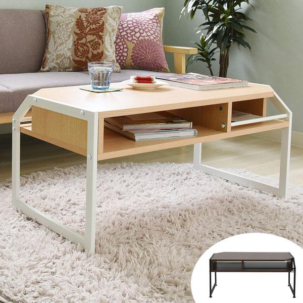 ローテーブル アイアンフレーム ミッドセンチュリー Rita 幅91cm ( 送料無料 テーブル センターテーブル リビング 収納 おしゃれ 木製 シンプル 北欧 木目 コンパクト ウォールナット ホワイト )