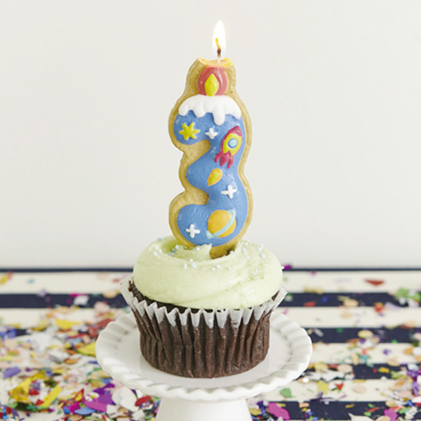 Interior Palette Number Candle Candle Number Cookie Third Rocket