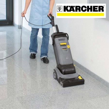本格的に床洗浄が出来る業務用小型床洗浄機 Karcher 清掃機器 業務用 縦型床洗浄機 ケルヒャー 送料無料 コンパクトスクラバー 39ショップ 4 C 新作続 BR30 数量限定