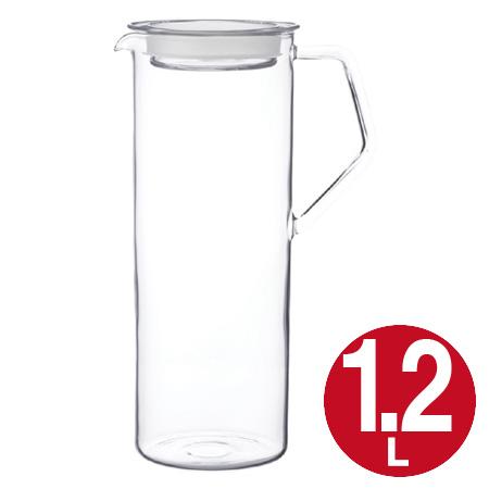 沸かし立ての熱いお茶もそのまま注げるウォータージャグ 冷水筒 ピッチャー 冷水ポット 水差し キントー KINTO ガラス製 1.2L 39ショップ ウォータージャグ 耐熱 安売り CAST お金を節約