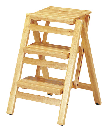 Excellent Natural Three Steps Of Step Chair Folding Style Grain Of Wood Wooden A Step Stepladder Chair Chair Pabps2019 Chair Design Images Pabps2019Com