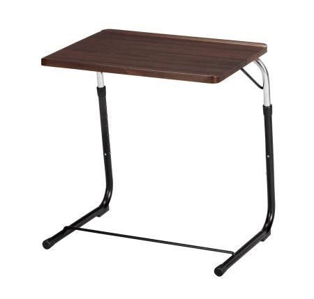 Folding Side Table Brown Adjustable ( Folding Side Table Folding Desk  Computer Desk Sofa Table ) P25Jan15