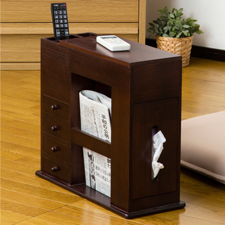 Side Table Small Compartment Seat Chair For Width 49 Cm Remote Control Rack Drawer Chests Case Medicine