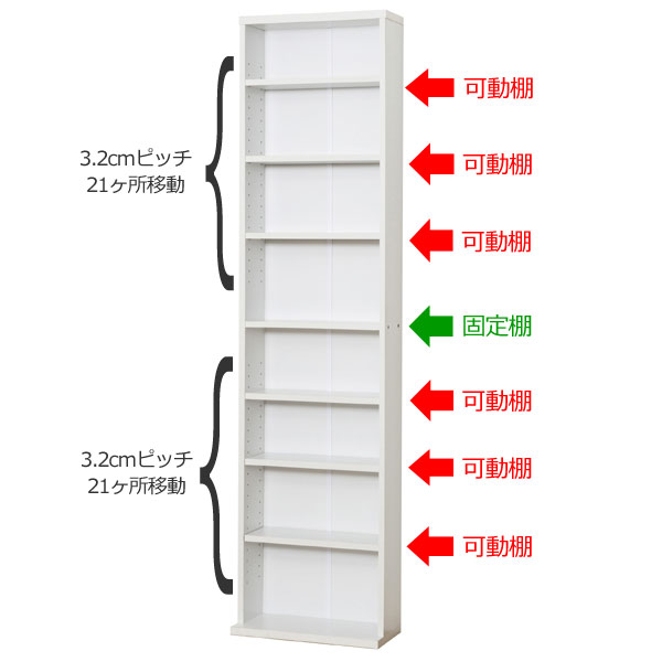Bookshelf Library Width 45 180cm In Height Shelf Wall Surface Storing Pocket Edition Rack Thin Open CD DVD 45cm
