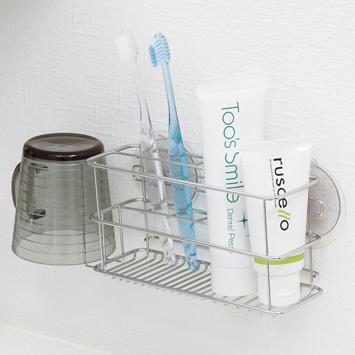 歯みがき用品をキレイ壁面収納 歯ブラシホルダー 日本メーカー新品 ステンレス製 クリアランスsale 期間限定 吸盤 39ショップ