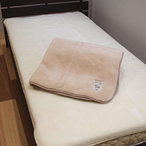 毛布 敷きパッド メリノウール 敷き毛布 ふわふわ ボリューム毛布 泉州産 日本製 ウール ( 送料無料 ベッドパッド 敷きパット 敷毛布 ベッドパット パッドシーツ 寝具 暖かい あったか 肌触り いい 洗える ウール毛布 発熱 )【39ショップ】