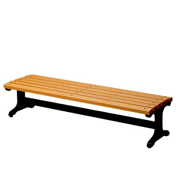 木製ベンチ 背なし 180cm 3~4人掛け ( 送料無料 長椅子 屋内 屋外 ) 【5000円以上送料無料】