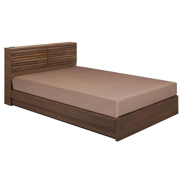 高い品質 ?在庫限り・入荷なし? ダブルベッド 収納付き マット付 木製 ルーバーデザイン WOLFU ダブル ウォールナット ( ベッド 送料無料 ベッド ダブル 収納付き 収納 引出し付き 引き出し 引出 宮付き ヘッドボード コンセント すのこ 寝具 寝室 ダブルサイズ )【39ショップ】, 包装資材と菓子材料販売のi-YOTA:81651a6b --- gerber-bodin.fr
