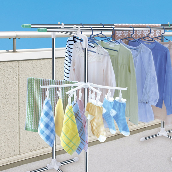 Slim Width Type Balcony For Drying Clothes Stand Porch Stainless Steel Washing Hanging The