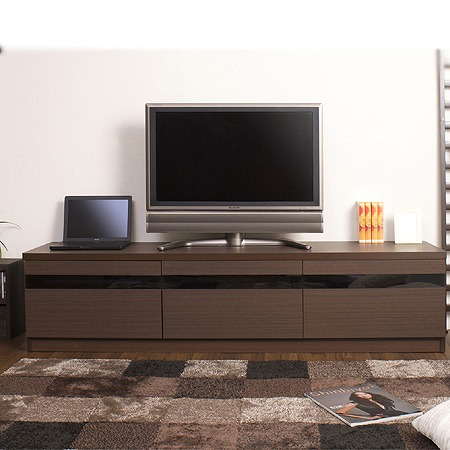 Tv Board Living Series Width 180 Cm Av Storage Snack Make Stand Units Lowboard Wood Oversized Rack 70 Inch 60 65 Dark Brown
