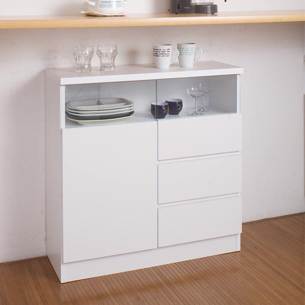 Living Cabinet 80cm In Width Drawer White (thin A Chest Made In Living  Storing Kitchen Drawer Storing Shelf Bookshelf Drawer Counter Lower Storing  Finished ...