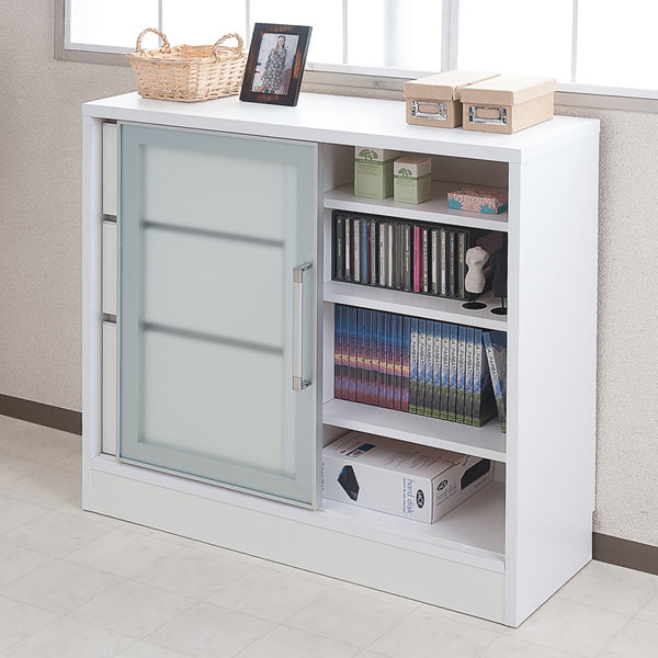 Counter Bottom Storage Aluminum Frame Cabinet Width 88 Cm Drawer Sliding Door Chest Slim Flat Screen Window Under The Glass Approximately 30