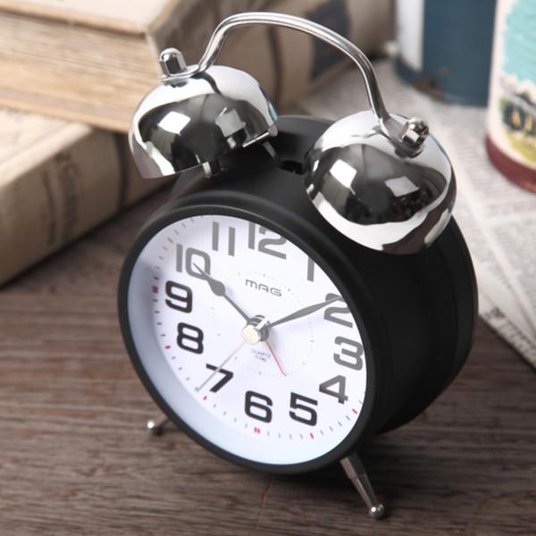 お部屋をクールに引き締めるツインベルクロック 驚きの値段 目覚まし時計 大音量 スヌーズ機能付き ライト付き 価格交渉OK送料無料 ベルズドライブ おしゃれ 置き時計 めざまし時計 アラーム 39ショップ クロック ベル音 連続秒針 コンパクト シンプル 時計