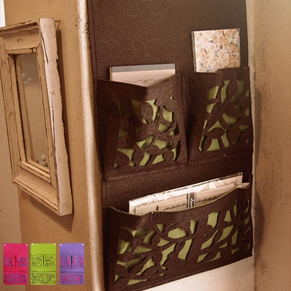 wall pocket felt wallmounted storage pockets made of felt wall case hanging storage