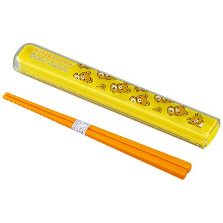 箸&箸箱セット リラックマ No.3 16.5cm 子供用 キャラクター ( 子供用お箸 箸&ケース スライド箸箱 りらっくま )