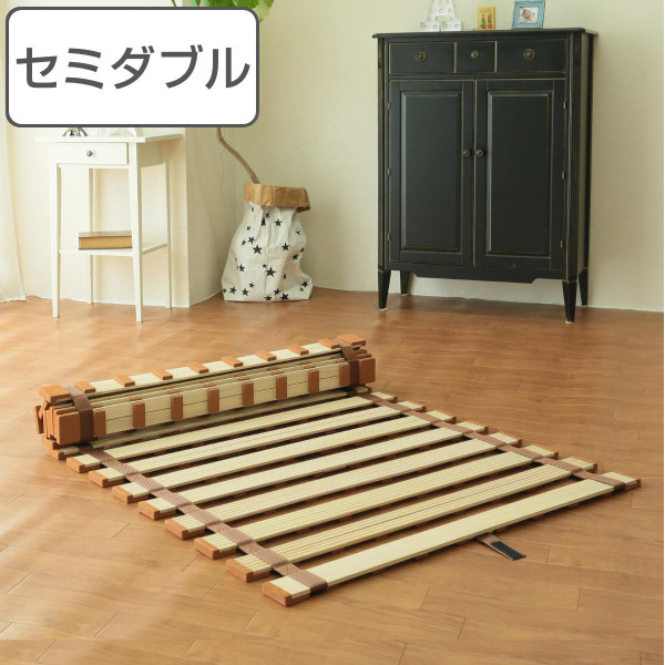 すのこベッド 薄型 ロール式 すのこマット 桐製 軽量タイプ セミダブル ( 送料無料 スノコベッド スノコマット 桐 すのこ ロールタイプ ロールマット 木製 ベッド )