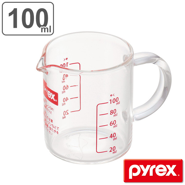 Pyrex PYREX measuring cup measuring cups 100 ml heat-resistant glass handle with (food washing machine for kitchen tools cooking appliances for kitchen ...