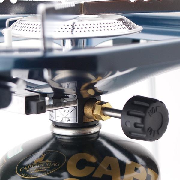 コンロ 大型 五徳 ガスバーナーコンロ 収納バッグ付 (  キャプテンスタッグ 調理用品 アウトドア CAPTAIN STAG ガスコンロ ボンベ BBQ )