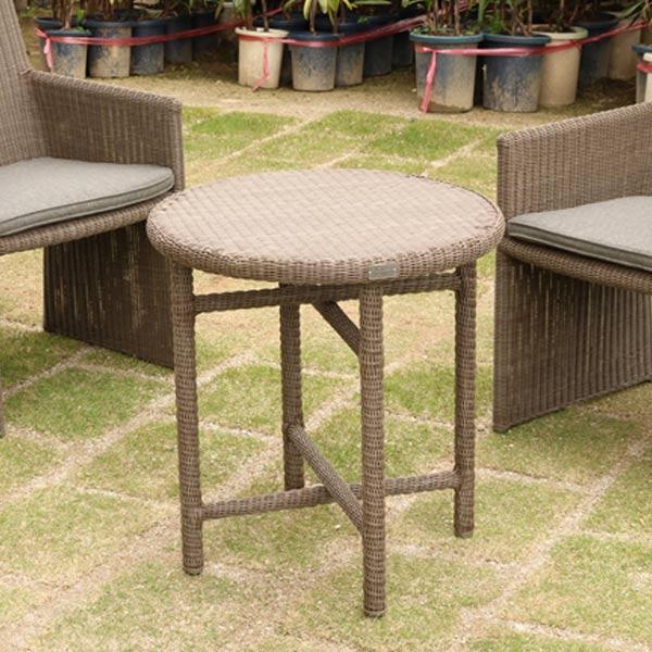 ガーデンテーブル ラウンドテーブル ( 送料無料 テーブル 屋外 ガーデンファニチャー ガーデン 庭 ガーデニング ナチュラル 机 ラタン調 )