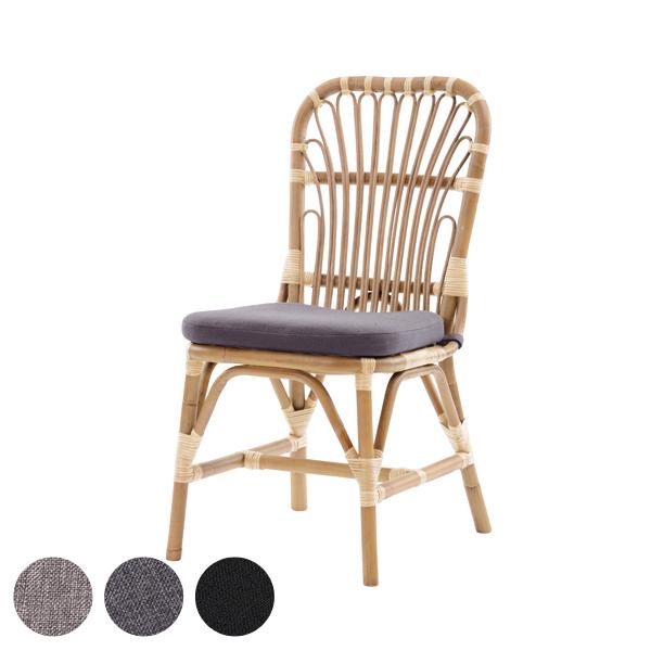 籐 ダイニングチェア クッション付 ラタン製 座面高45cm ( 送料無料 チェア ダイニングチェアー チェアー イス いす ラタン ダイニング 食卓 食卓椅子 ナチュラル アジアン 椅子 軽い 自然 天然素材 かわいい デザイン クッション )【39ショップ】