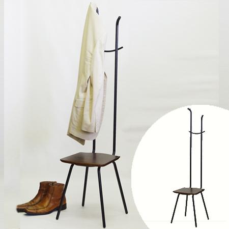 玄関椅子とハンガーの融合 玄関椅子 コートハンガー メーカー直売 チェアー ハンガーラック ハンガーチェア 39ショップ 送料無料 人気激安 ミスカンサス アイアン 洋服掛け レトロ