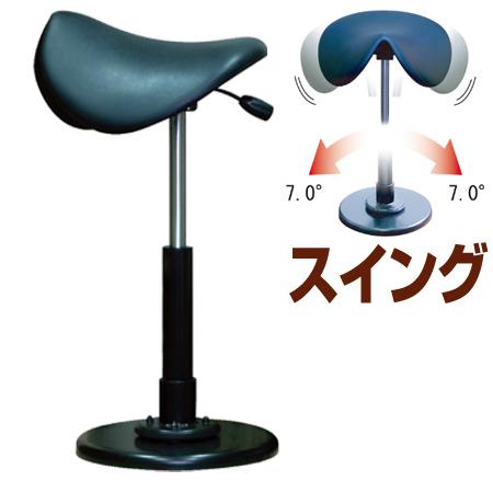スツール 椅子 鞍馬チェア ブラック ( 送料無料 高さ調節 スイング 揺れる イス いす カウンターチェア チェアー 乗馬 昇降 ) 【39ショップ】