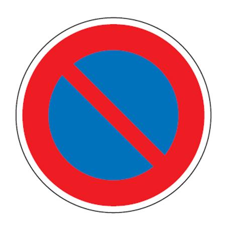 路面道路標識 「駐車禁止」 強力粘着テープ付き 軟質エンビタイプ ( 送料無料 安全標識 シール ) 【5000円以上送料無料】